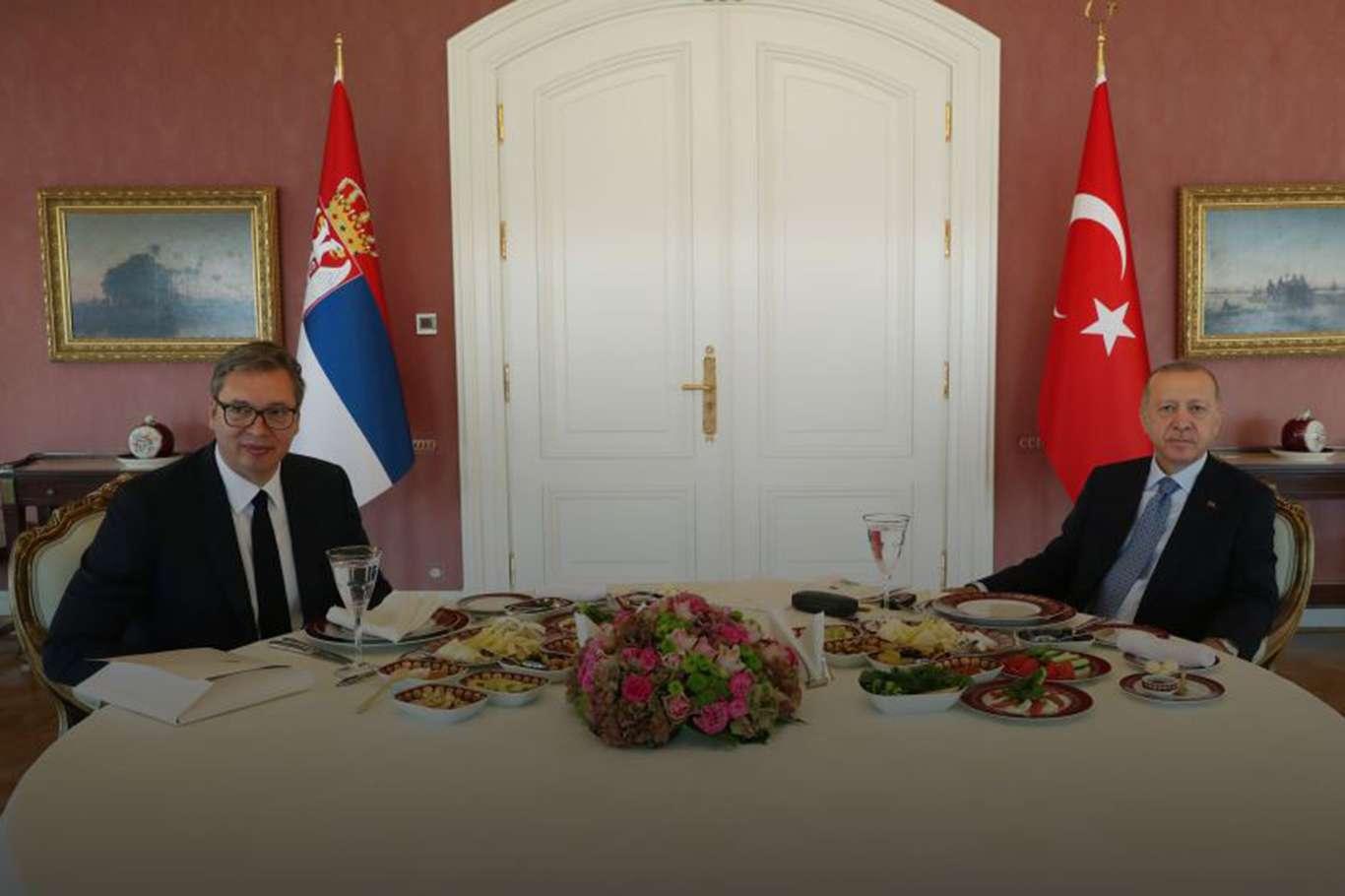 Erdoğan, Sırbistan Cumhurbaşkanı Vucic ile görüştü