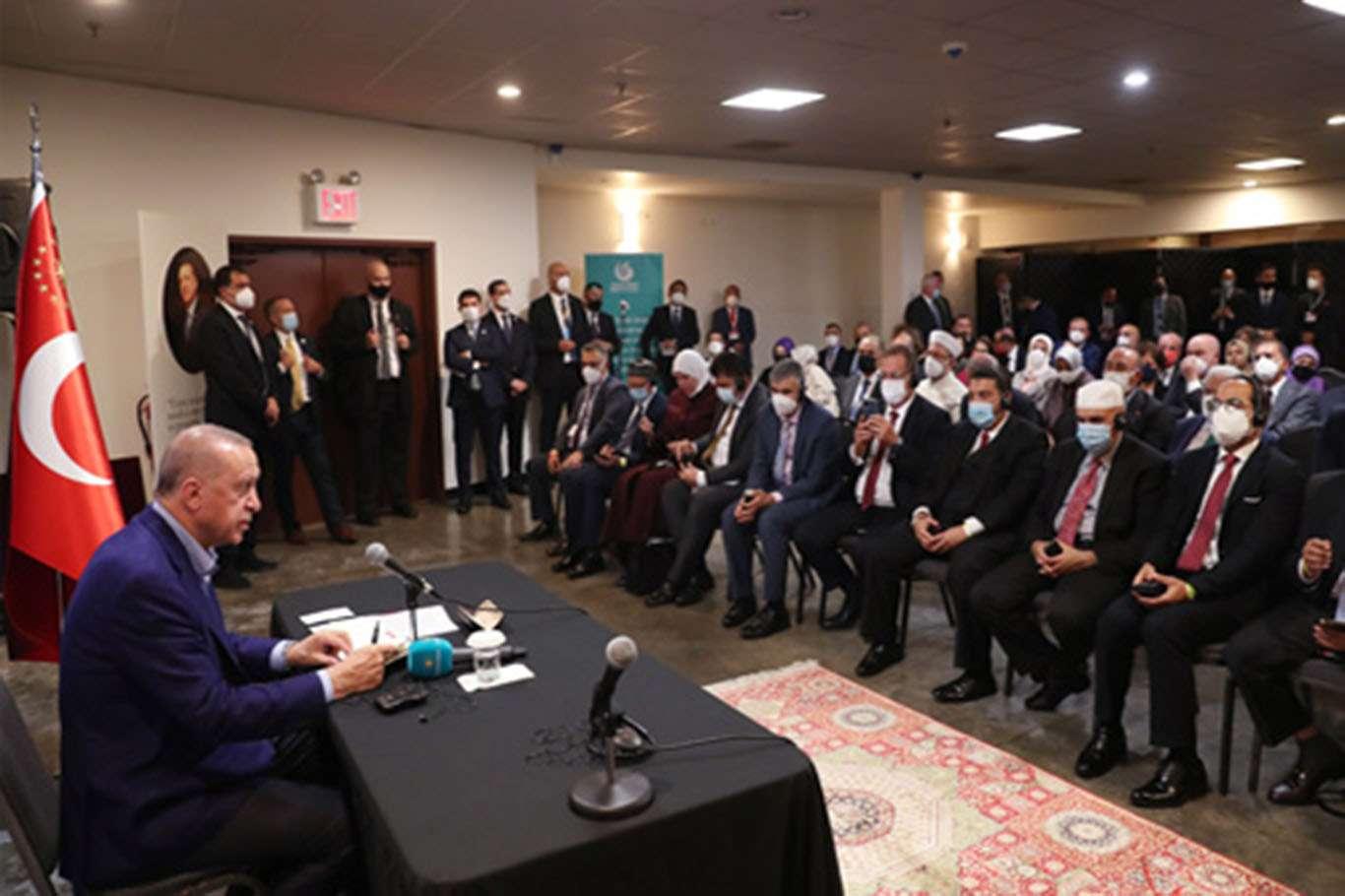 Cumhurbaşkanı Erdoğan ABDdeki Müslüman toplumunun temsilcilerini kabul etti