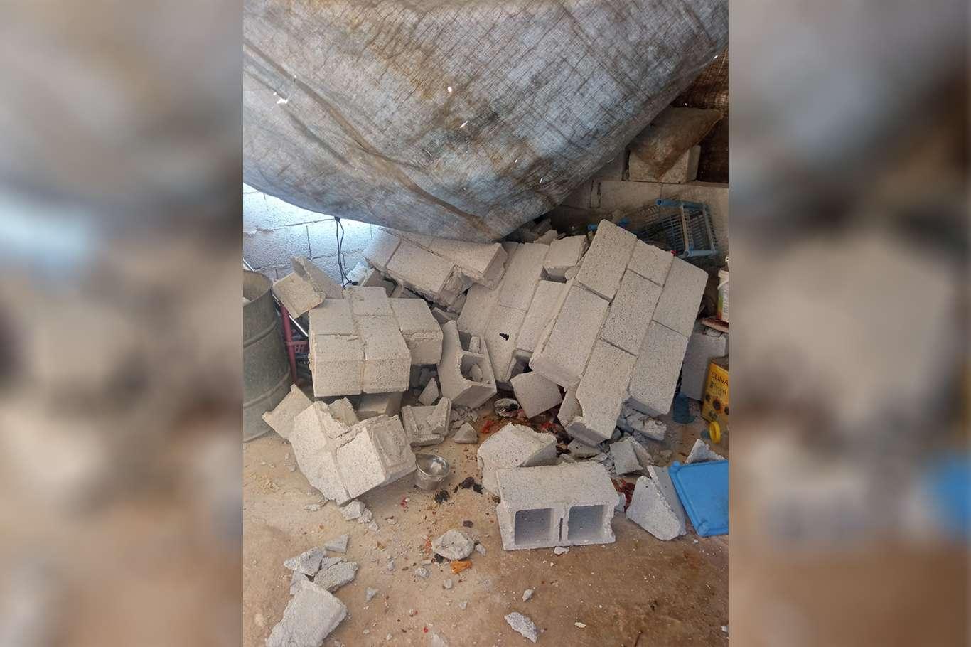 Üzerine duvar yıkılan kadın yaralandı