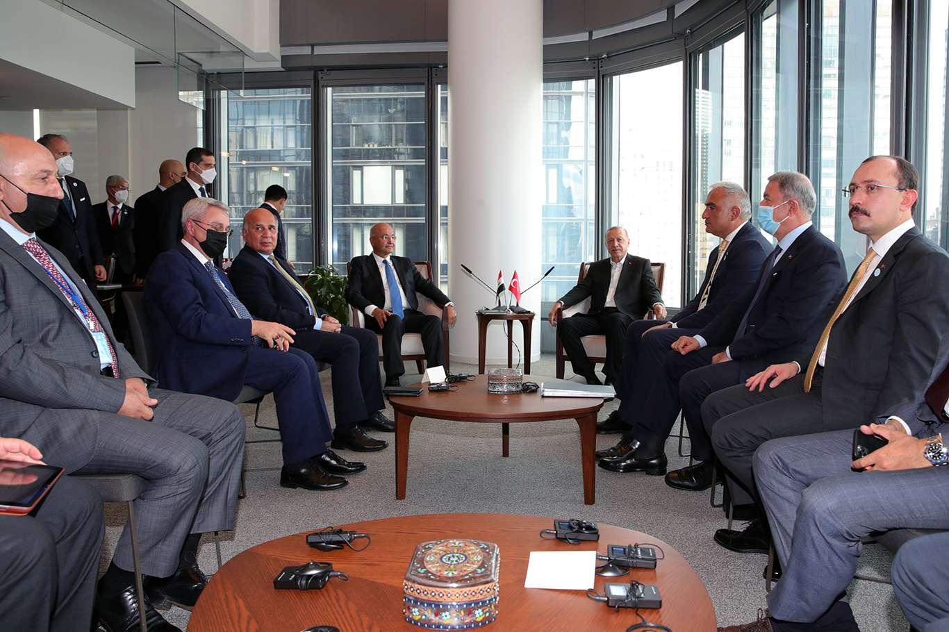 Cumhurbaşkanı Erdoğan Irak Cumhurbaşkanı Salih ile görüştü