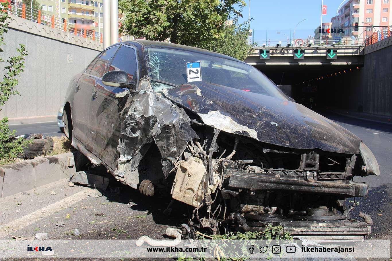 Diyarbakırda trafik kazası: 2 yaralı