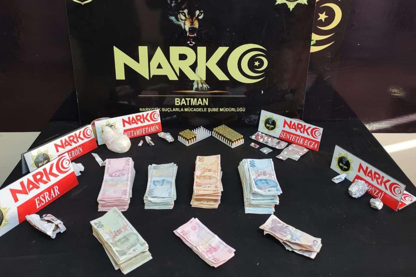 Batman'da uyuşturucu operasyonu: 13 gözaltı