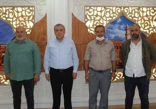 Başkan Şahin, Kooperatif Başkanı Yeşilmen'i kabul etti